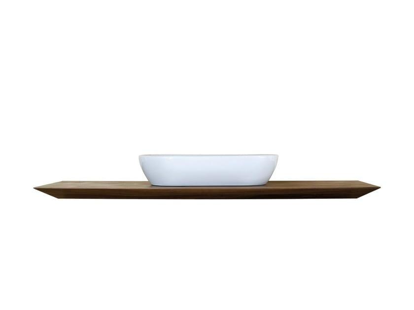 Single walnut washbasin countertop CP LAB DESIGN | Washbasin countertop by CP Parquet