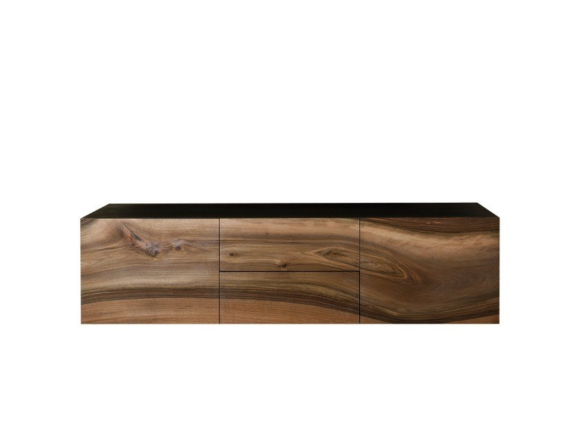 Suspended walnut bathroom cabinet CP LAB DESIGN | Suspended bathroom cabinet by CP Parquet