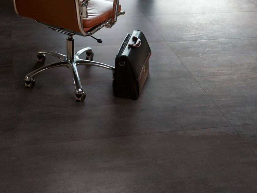 Porcelain stoneware wall/floor tiles with metal effect TRACE IRON by Ceramiche Caesar
