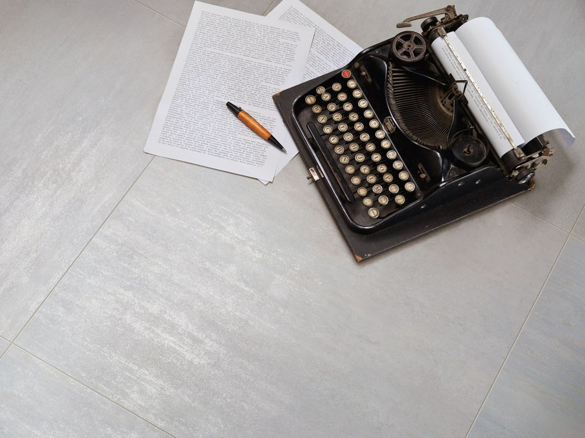 Porcelain stoneware wall/floor tiles with metal effect TRACE ALLUMINIA by Ceramiche Caesar