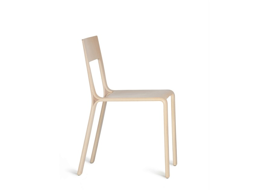 Stackable restaurant chair FRAME by Plycollection