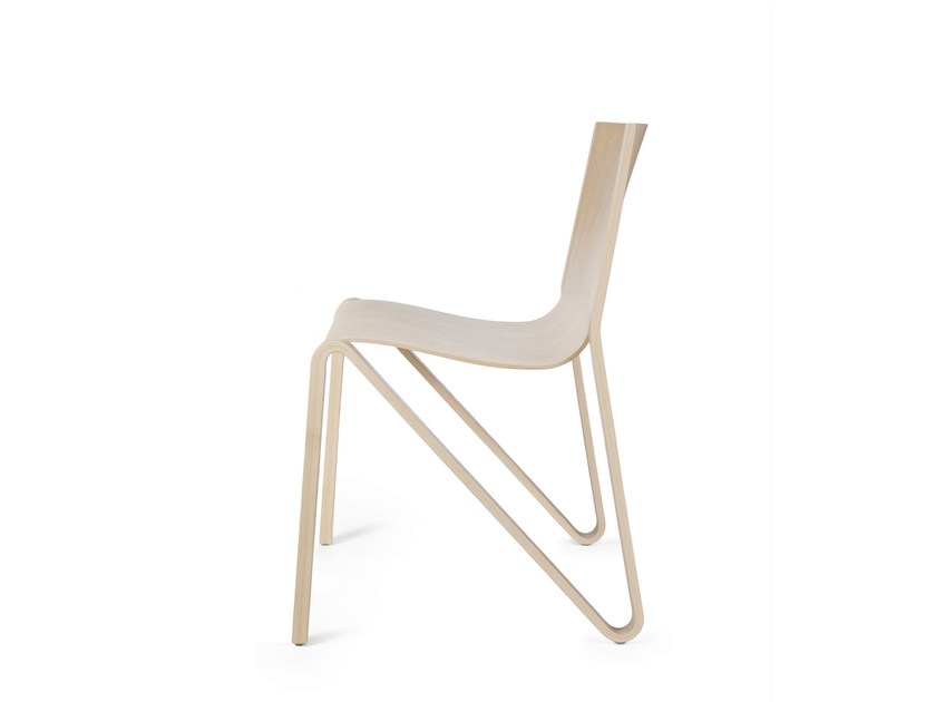 Stackable plywood chair ZESTY by Plycollection