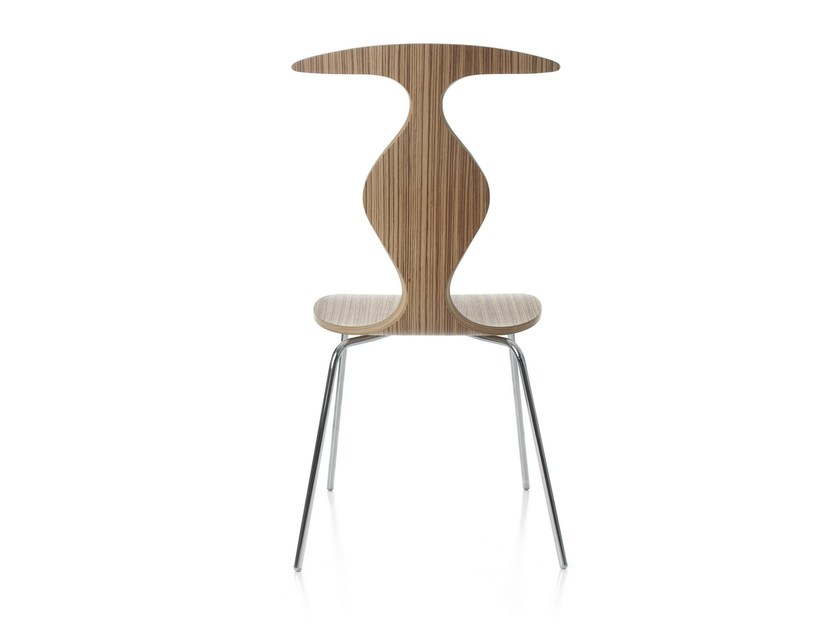 Stackable plywood restaurant chair PYTHON by Plycollection
