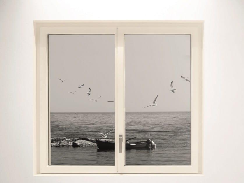 Aluminium and wood window MINIMAL WOOD | Window by De Carlo