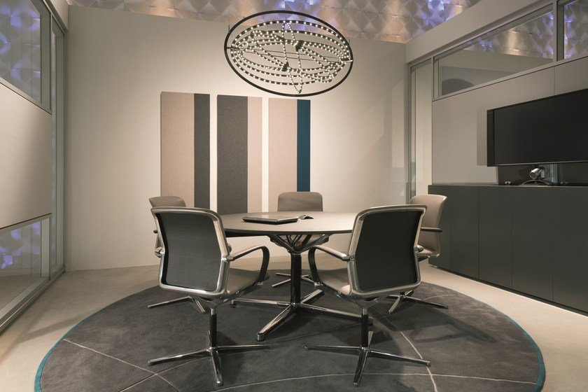 Round meeting table FILO 4-STAR TABLE | Round meeting table by BENE