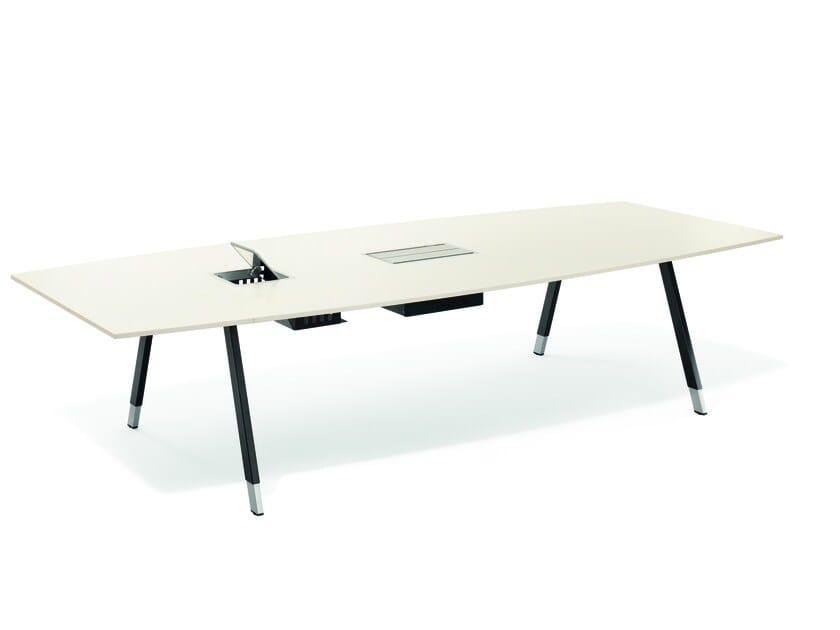 Rectangular meeting table T-MEETING | Rectangular meeting table by BENE