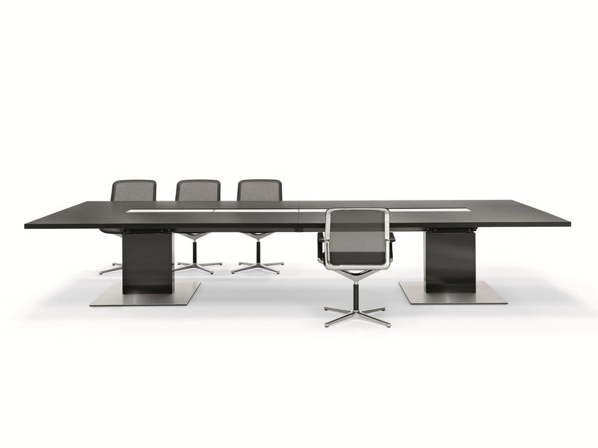 Rectangular meeting table P2 CONFERENCE by BENE