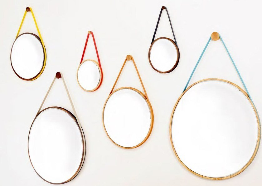 Round wall-mounted mirror LOOP by Movisi