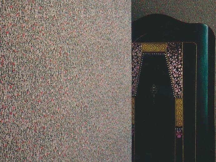 Sound absorbing synthetic fibre wallpaper WALLDESIGN® BLOCAGE by TECNOFLOOR