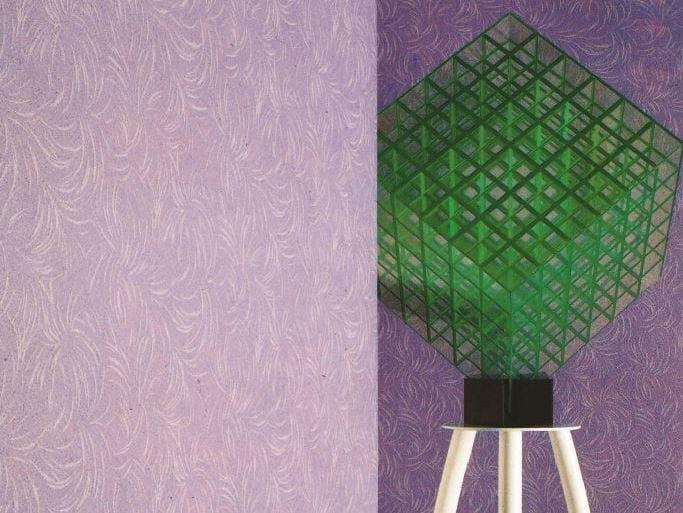 Sound absorbing synthetic fibre wallpaper WALLDESIGN® BOUQUET by TECNOFLOOR