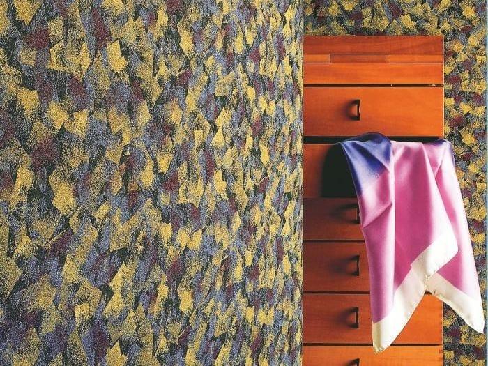 Sound absorbing synthetic fibre wallpaper WALLDESIGN® CHANCARD by TECNOFLOOR