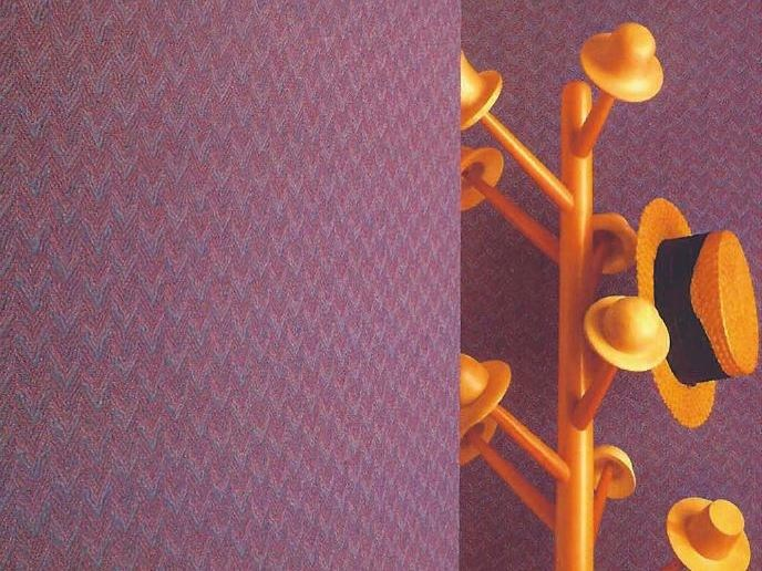 Sound absorbing synthetic fibre wallpaper WALLDESIGN® KING by TECNOFLOOR