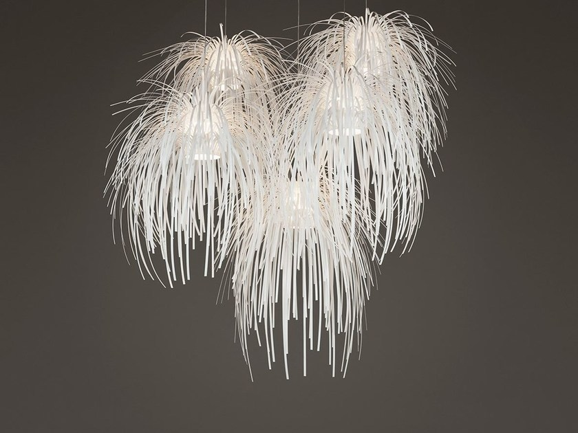 Polypropylene chandelier TINA TN04-5 | Pendant lamp by arturo alvarez