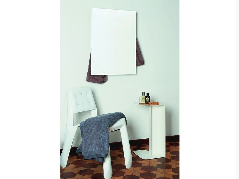 Electric wall-mounted aluminium towel warmer RECTANGLE by mg12