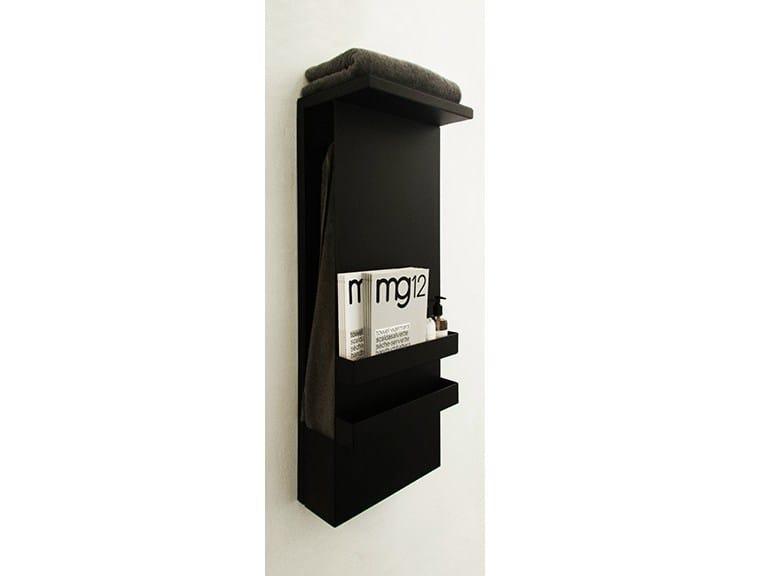 Wall-mounted electric aluminium towel warmer SHELF BLACK by mg12