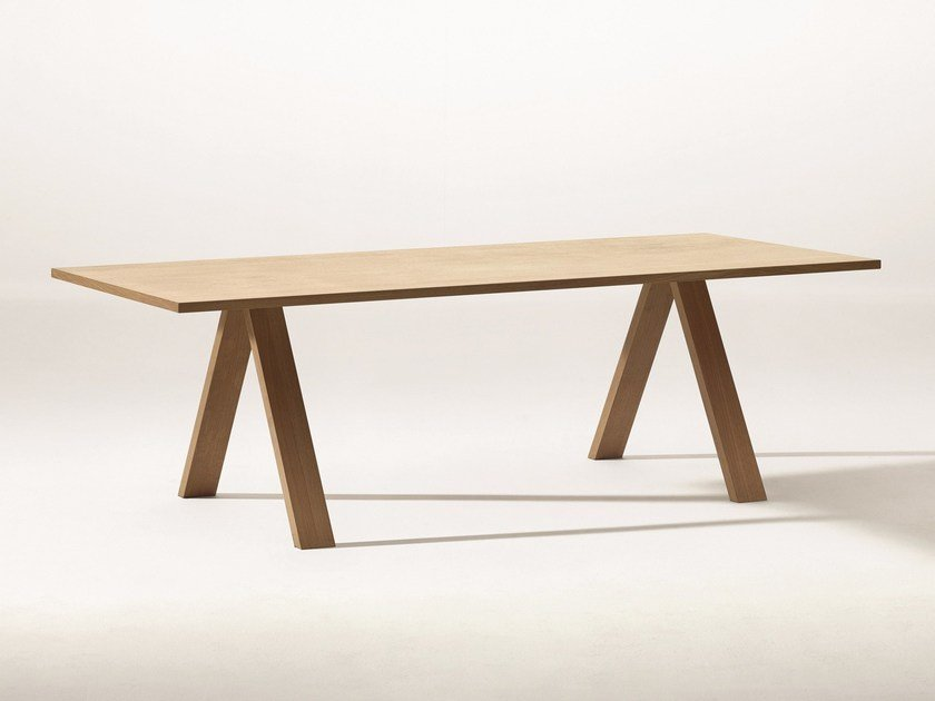 Rectangular table CROSS | Table by arper
