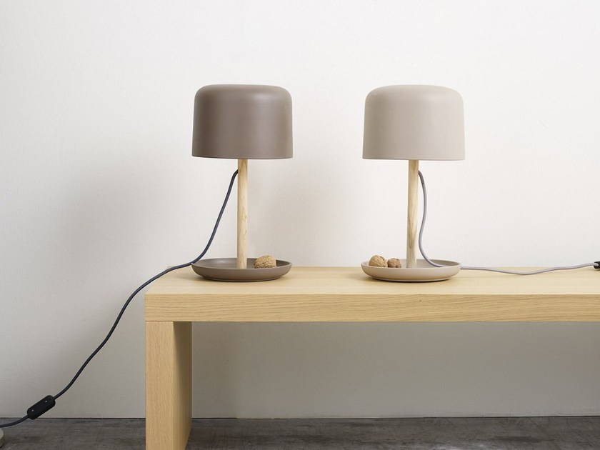 Handmade ceramic table lamp FUSE TABLE by Ex.t