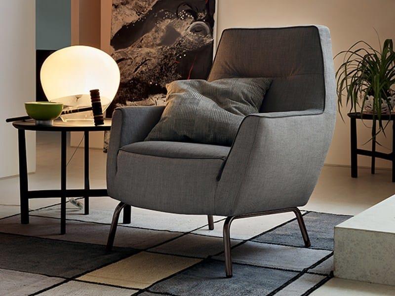 High-back fabric armchair VELA by Ditre Italia