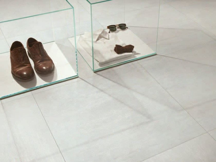 Porcelain stoneware wall/floor tiles with metal effect TRACE VITRO by Ceramiche Caesar