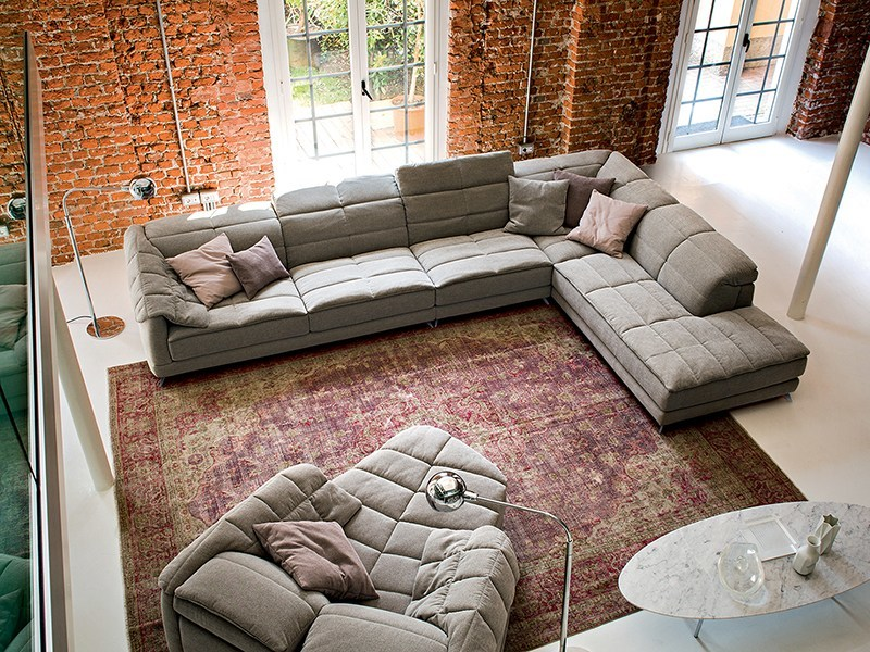 Tufted relaxing sofa with electric motion DUNN SOFT by Ditre Italia