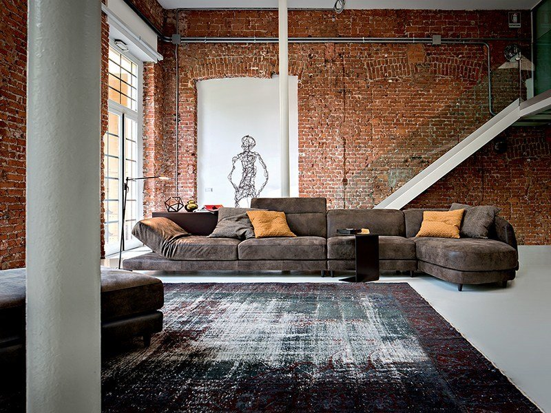 Relaxing sofa with electric motion DUNN LEATHER by Ditre Italia