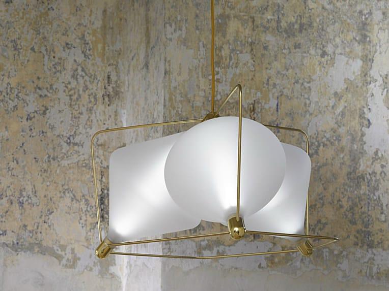 LED handmade blown glass pendant lamp CLOVER   Pendant lamp by Lasvit