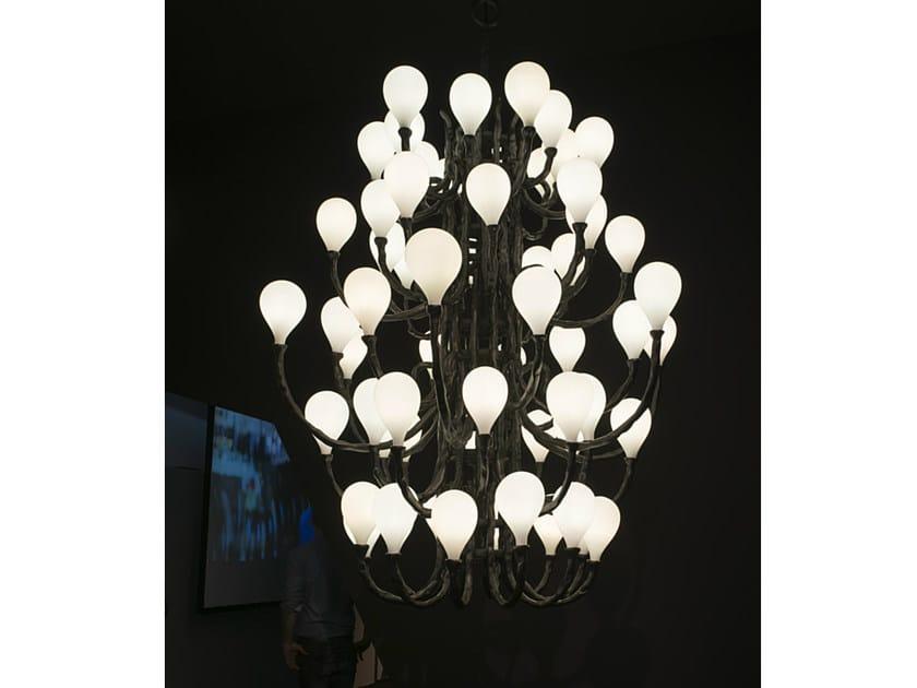 Handmade blown glass chandelier DAS POP | Blown glass chandelier by Lasvit