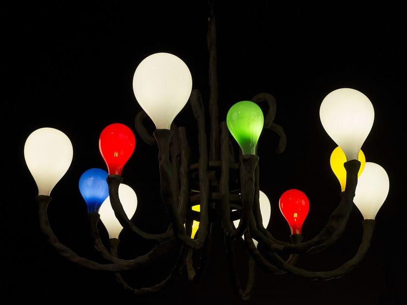 Handmade blown glass chandelier DAS POP | Chandelier by Lasvit