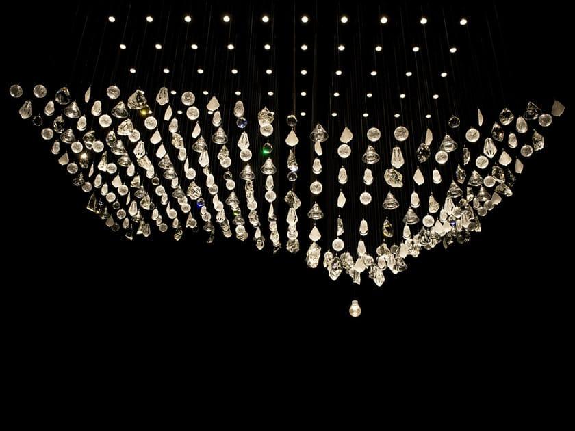 LED handmade blown glass chandelier MAGNETIC by Lasvit