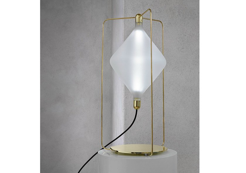 LED handmade blown glass table lamp CLOVER | Table lamp by Lasvit