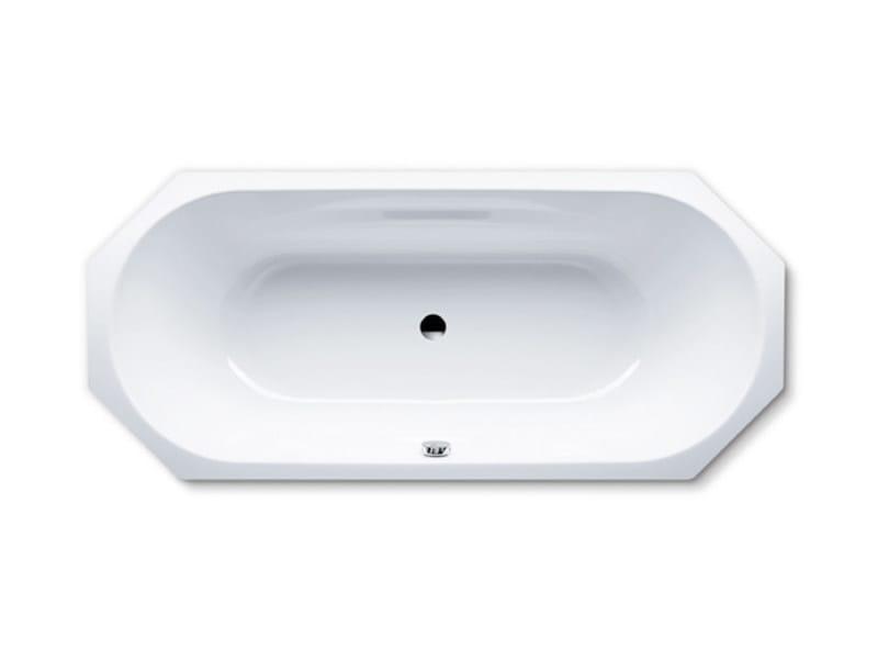 Octagonal built-in enamelled steel bathtub VAIO DUO 8 by Kaldewei Italia