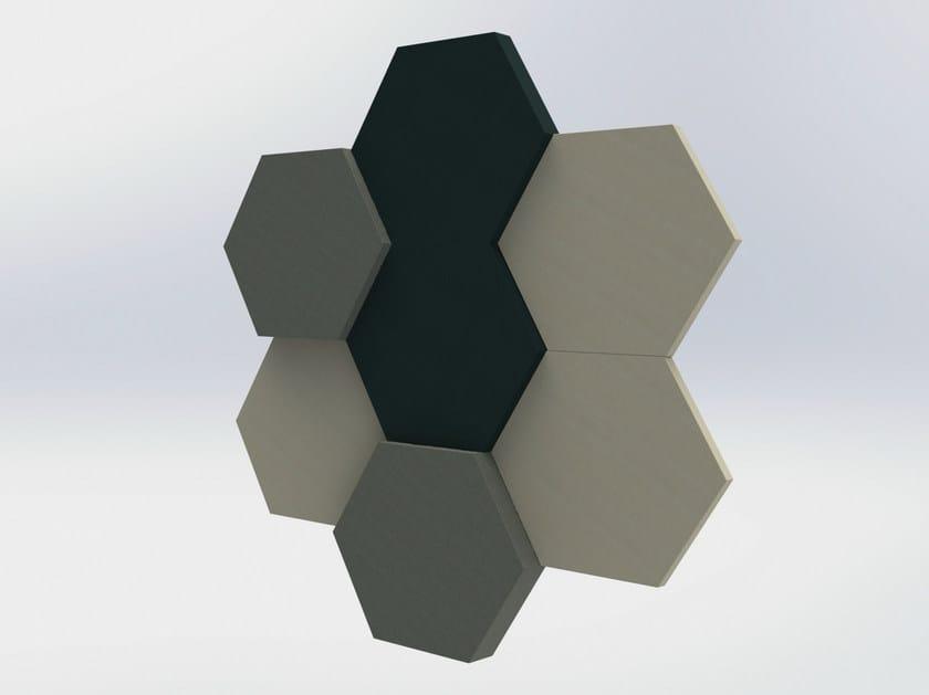 Fabric decorative acoustical panel BUZZIBLOX HEXA by BuzziSpace