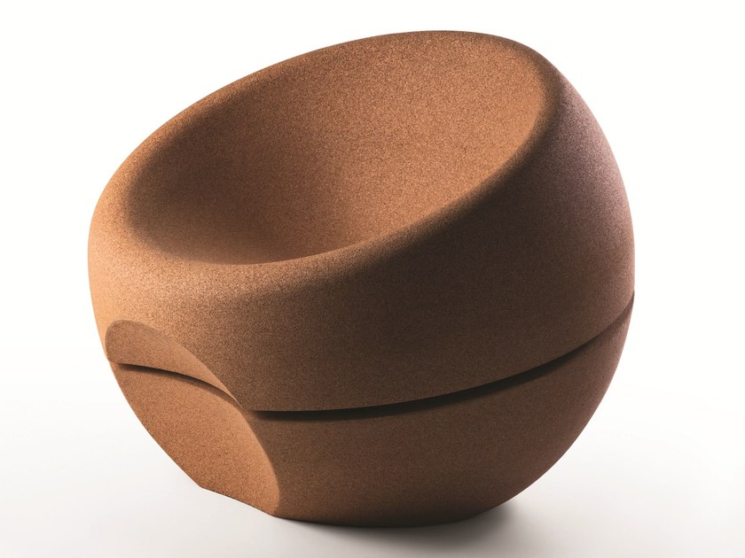 Cork armchair SPHERICAL by Movecho®