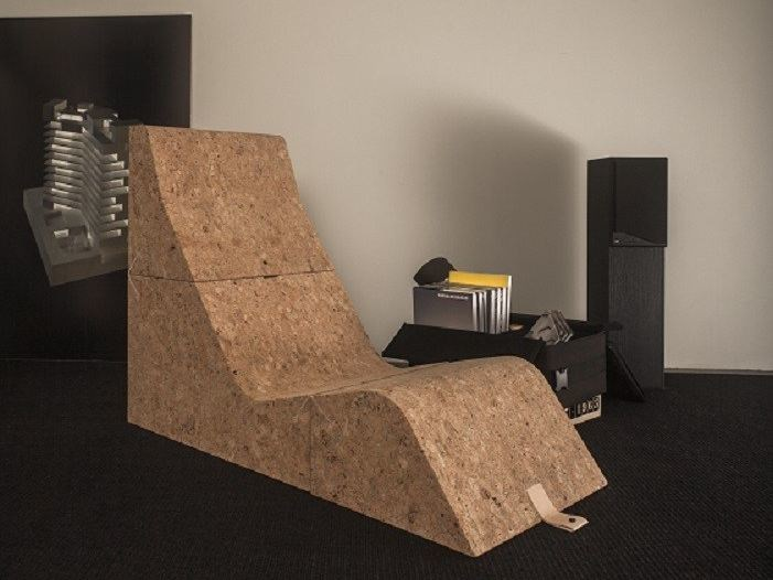 Cork lounge chair TUMBLE by Movecho®