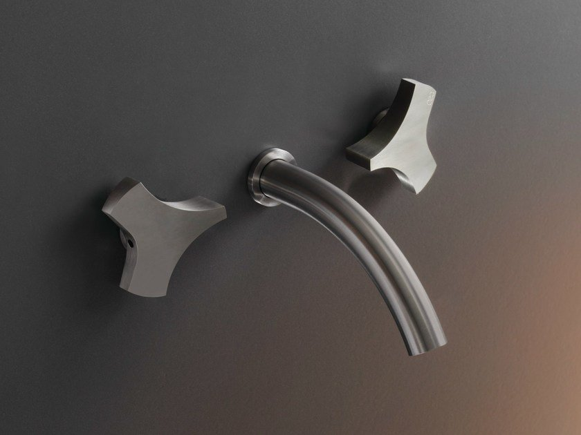 Wall mounted set of 2 individual taps ZIQ 08 by Ceadesign