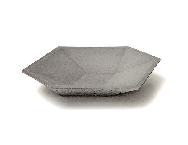 Concrete plate CUBE PLATE by URBI et ORBI