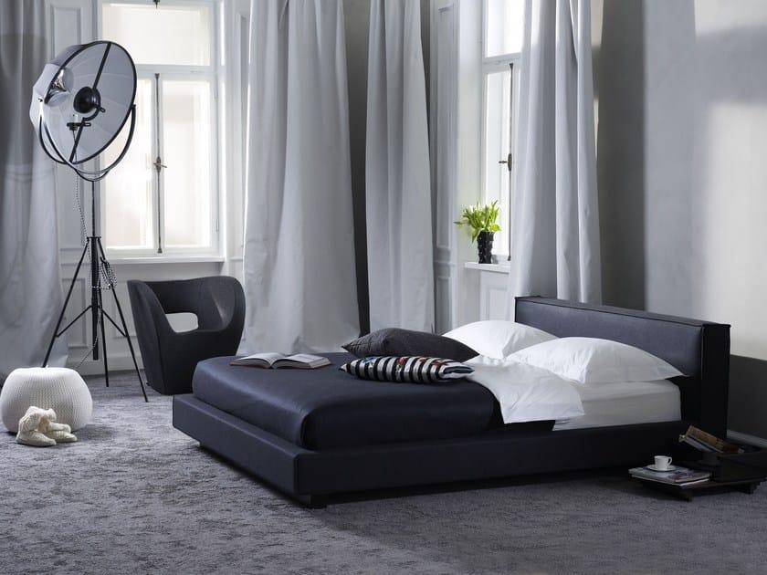 Upholstered fabric double bed Gala 18-L + SOHO by Schramm Werkstätten