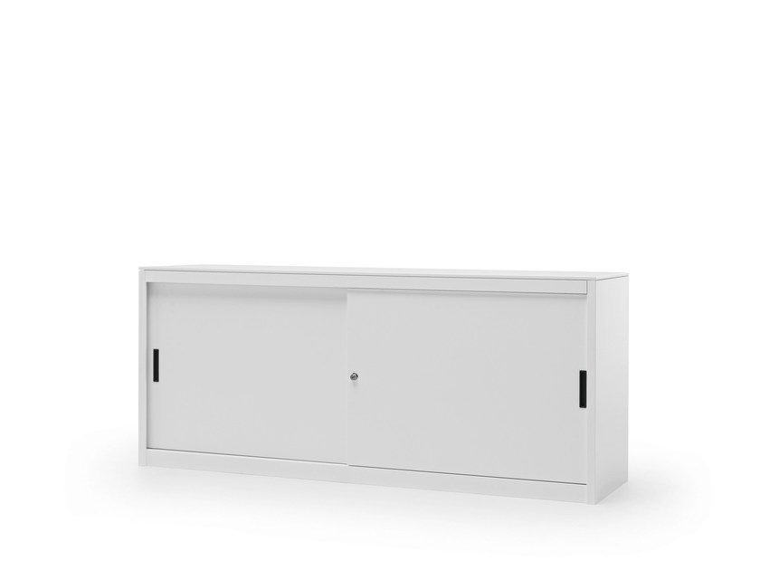 Low metal office storage unit with sliding doors CLASSIC | Office storage unit by Fantin