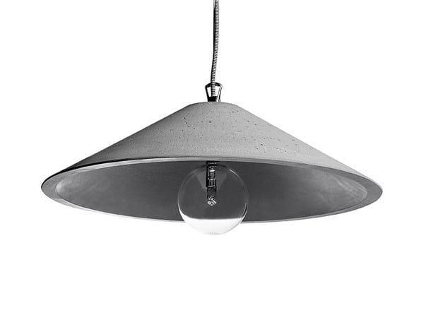 Concrete pendant lamp MONS 45 by URBI et ORBI