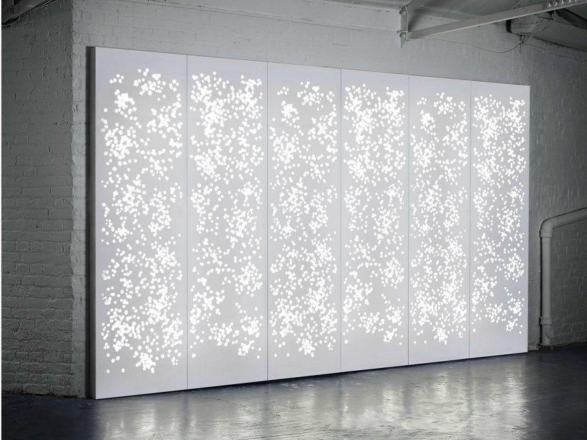 Solid Surface wall tiles / room divider LIGHT WALL by Isomi