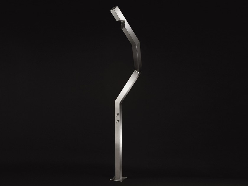 Stainless steel outdoor shower STL 01 by Ceadesign
