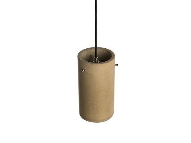 Concrete pendant lamp CYLINDRUS 125 by URBI et ORBI