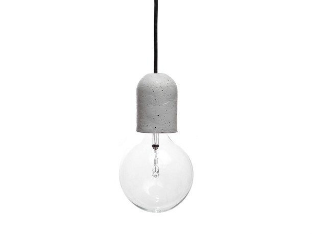 Concrete pendant lamp DOLIO by URBI et ORBI