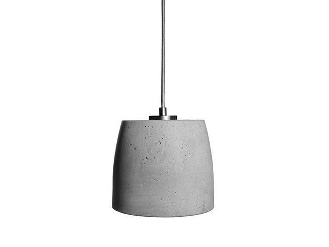 Concrete pendant lamp CALIX 18 by URBI et ORBI