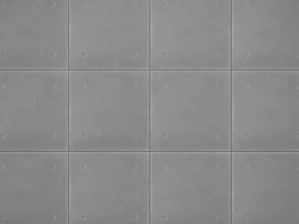 Concrete wall tiles METAL FORM by URBI et ORBI