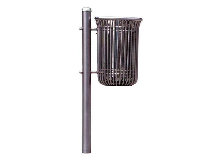 Galvanized steel litter bin MERLINO | Litter bin by Bellitalia