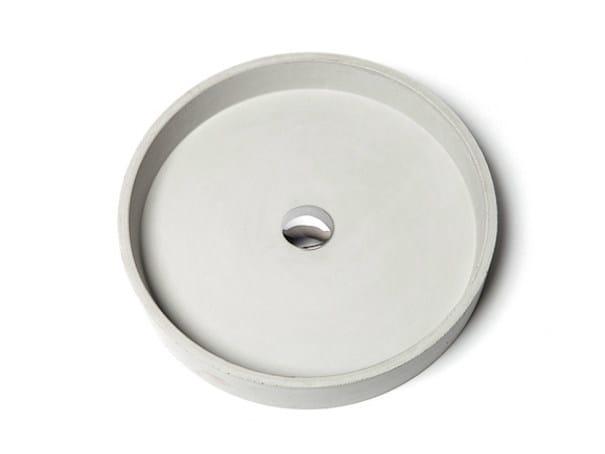 Countertop concrete washbasin CIRCUM 48 by URBI et ORBI
