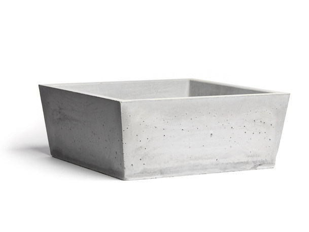 Countertop square Concrete and Cement-Based Materials washbasin CONICIS 40 by URBI et ORBI