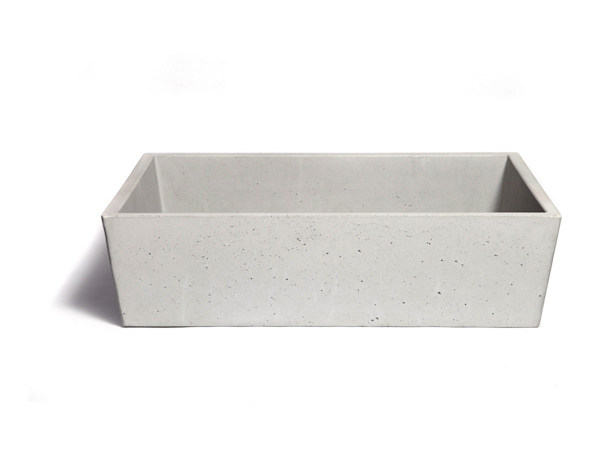 Countertop rectangular Concrete and Cement-Based Materials washbasin CONICIS 60 by URBI et ORBI