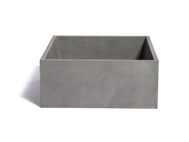 Countertop square Concrete and Cement-Based Materials washbasin IMMISSIO 40 by URBI et ORBI